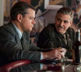 'The Monuments Men' George Clooney, Matt Damon