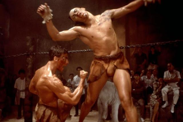 KICKBOXER, Jean-Claude Van Damme (l.), Michel Qissi, 1989, (c)Cannon Films