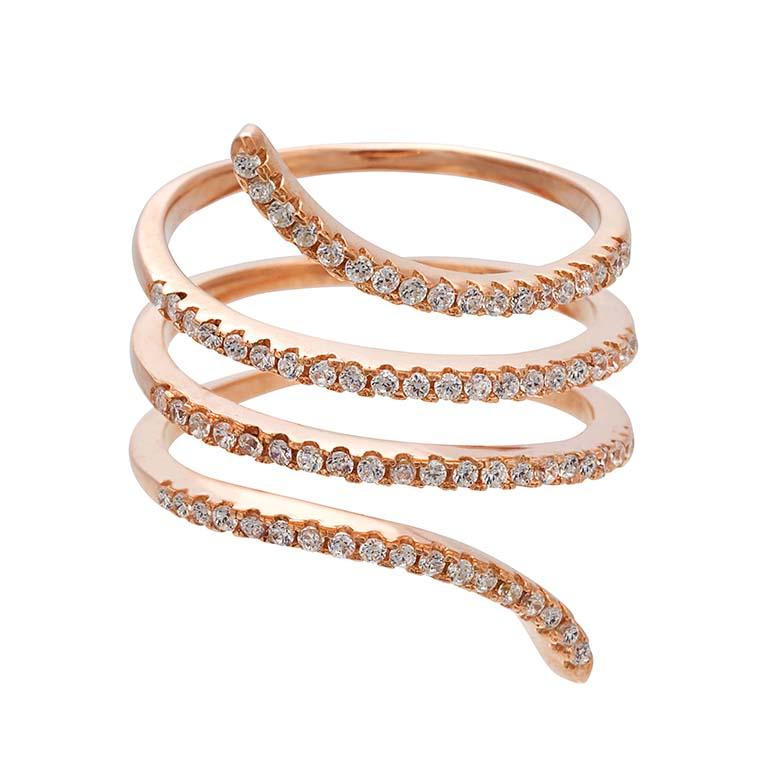 Market Place New York anillo espiral con circonitas 49€