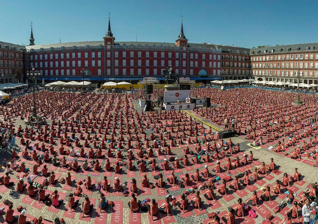 Free yoga by Oysho Madrid