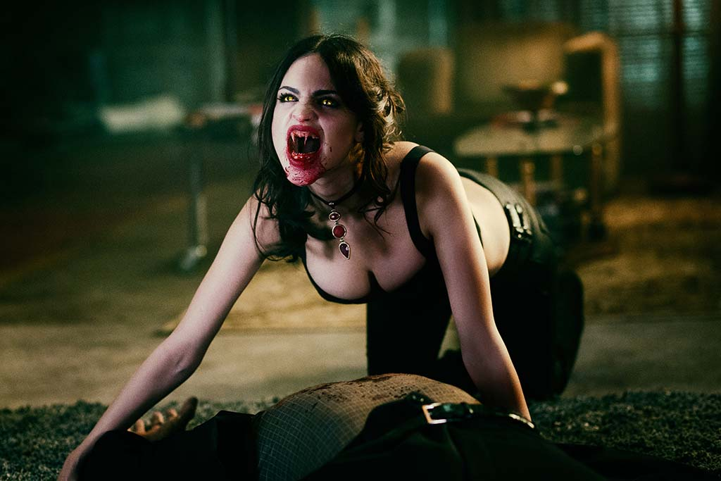 From Dusk Till Dawn: The Series, for El Rey Network and Miramax. Eiza Gonzalez as Santánico Pandemonium.