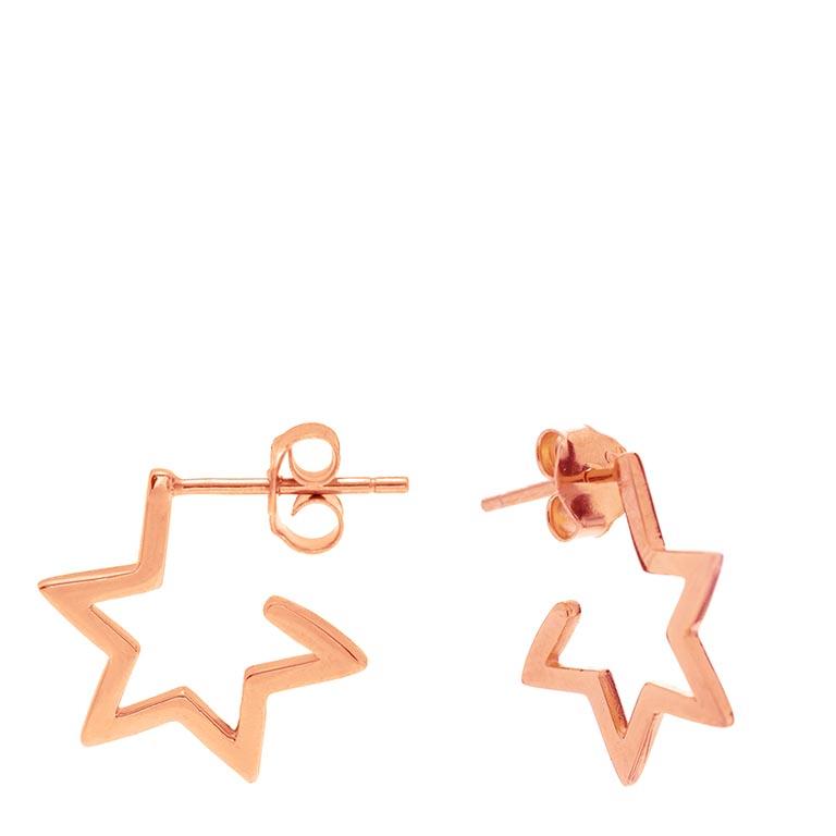 Market Place New York_ Pendientes Estrella Oro Rosa