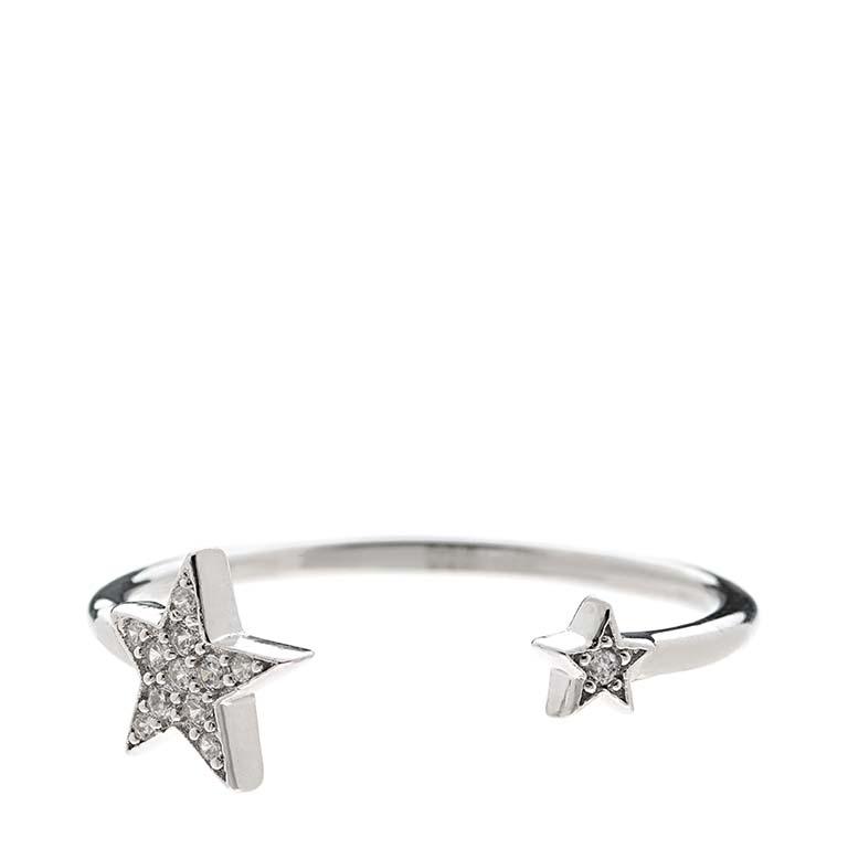 Anillo abierto Estrella en plata 925 Market Place New York