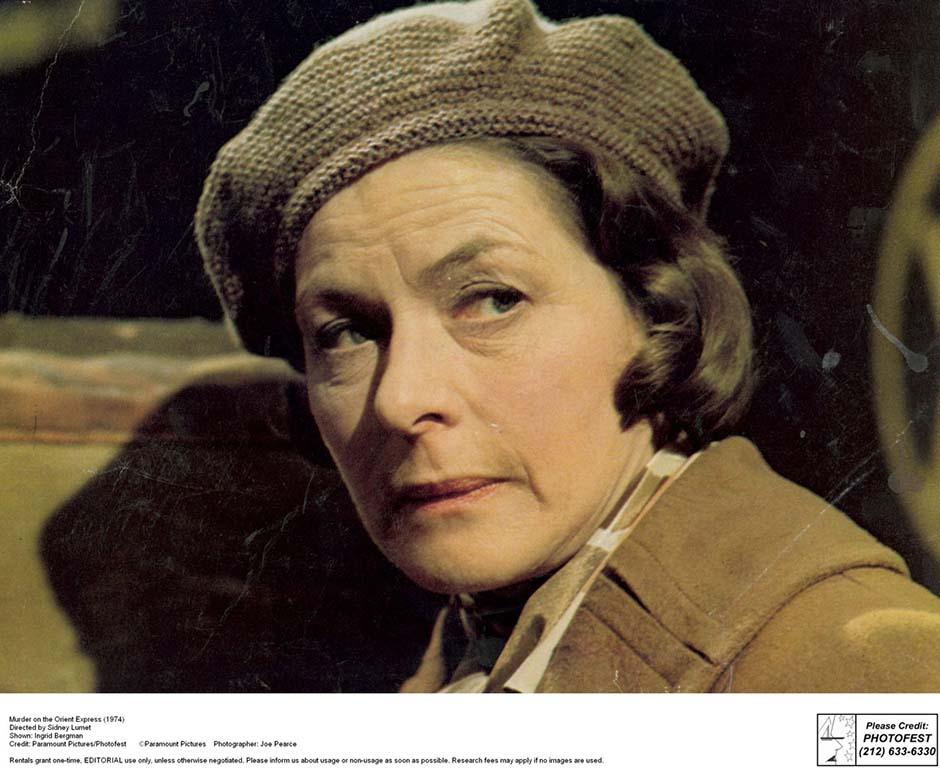 Murder on the Orient Express (1974) Directed by Sidney Lumet Shown: Ingrid Bergman