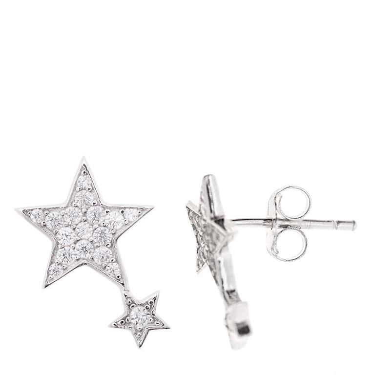 Pendientes Estrella en plata 925 Market Place New York