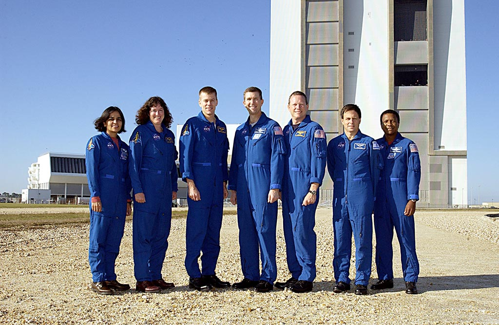 Shuttle Crew Arrives At Cape Canaveral