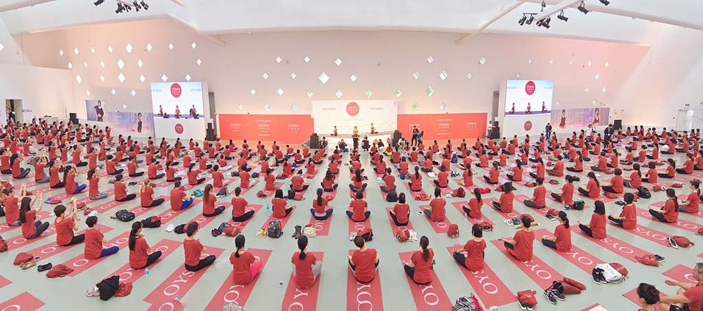 Oysho yoga Shanghai 2015