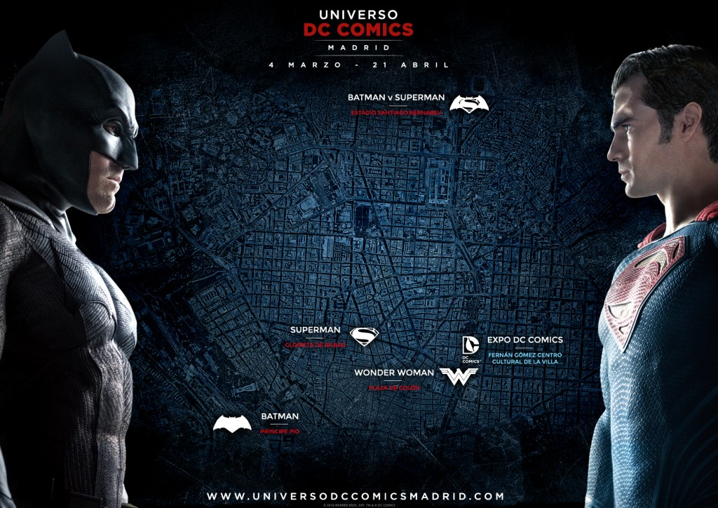 Mapa Universo DC Comics Madrid - Primera fase